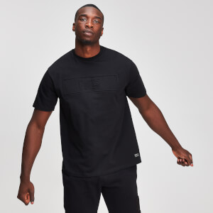 MP Graphic Men's Embossed T-Shirt - Black