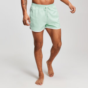 MP Heren Contrast Binding Swim Shorts - Muntgroen