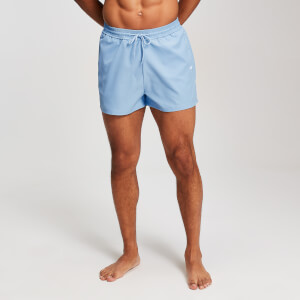 MP Men's Contrast Stitch Swim Shorts - Ljusblå