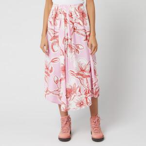 Stine Goya Women's Blossom Jasmine Silk Midi Skirt - Pink
