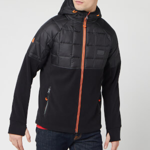 Superdry Men's Polar Fleece Hybrid Jacket - Black