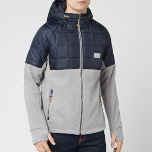 Superdry Men's Polar Fleece Hybrid Jacket - Grey Marl