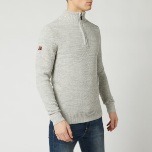 Superdry Men's Keystone Henley Knit Jumper - Concrete Twist