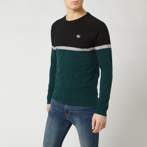Superdry Men's Collective Colour Block Long Sleeve Top - Pine
