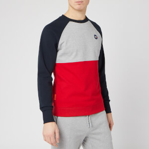 Superdry Men's Collective Colour Block Crew Sweatshirt - Grey Marl