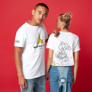 Camiseta Mario Kart Racing Watch Out - Unisex - Blanco