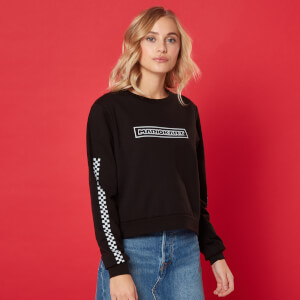 Pit Crew Women's Cropped Sweatshirt - Black