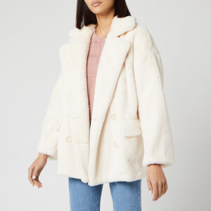 Free People Women's Solid Kate Faux Fur Coat - Ivory