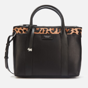 Radley Women's Maples Place Faux Leopard Medium Ziptop Multiway Bag - Black