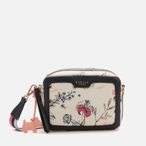 Radley Women's Sketchy Floral Small Ziptop Cross Body Bag - Bright White