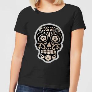 Day Of The Dead Skull Women's T-Shirt - Black