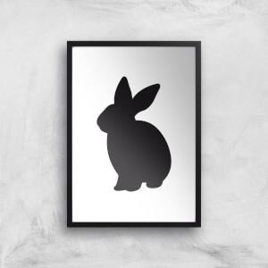 Bunny Rabbit Silhouette Art Print