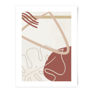 Decorative Leaf And Shape Print Art Print