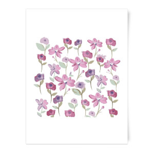 Spring Flower Bed Art Print