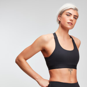 MP Power Women's Cross Back Sports Bra - Mörkgrå