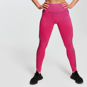 Leggings MP Seamless Contrast da donna - Rosa acceso