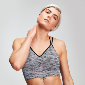 MP Space Dye Seamless Women's Sports Bra - Black