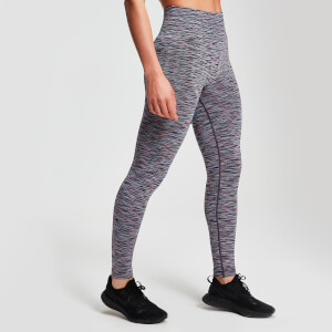 Naisten MP Space Dye Seamless Leggings - Musta
