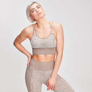 MP Women's Animal Snake Seamless Sports Bra - Desert