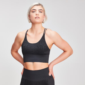 Naisten MP Animal Snake Seamless Sports Bra - Black