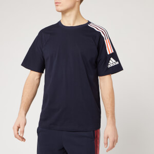 adidas Men's Z.N.E. 3 Stripe Short Sleeve T-Shirt - Legend Ink