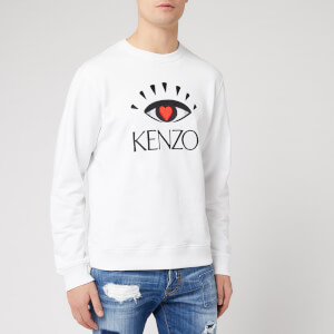 KENZO Men's Classic Fit Eye Sweatshirt - White