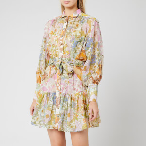 Zimmermann Women's Super Eight Lantern Mini Dress - Mixed Floral