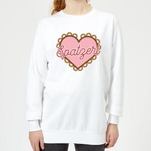 Oktoberfest Spatzerl Women's Sweatshirt - White