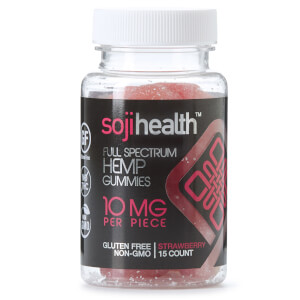 Soji Health Hemp CBD Infused Gummies - Strawberry