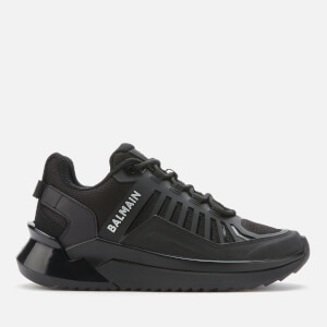 Balmain Women's Leather/Mesh Trail Trainers - Black