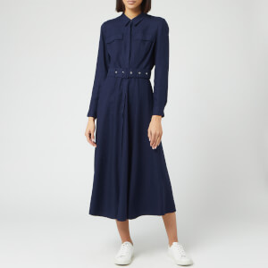 Whistles Women's Military Shirt Dress - Navy