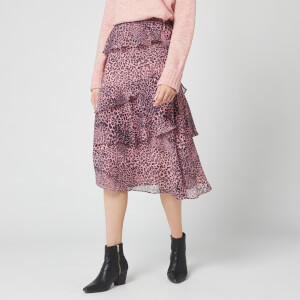 Whistles Women's Wild Cat Printed Skirt - Pink/Multi