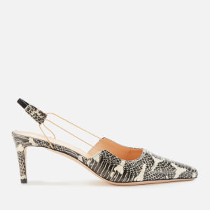by FAR Women's Gabriella Snake Print Leather Sling Back Heels - Graphic