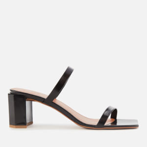 by FAR Women's Tanya Patent Leather Block Heels - Black