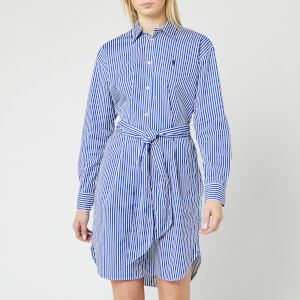 Polo Ralph Lauren Women's Long Sleeve Stripe Shirt Dress - Blue/White