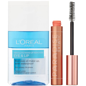 L'Oréal Paris Castor Oil-Enriched Paradise Volumising Mascara and Makeup Remover Duo Exclusive (Worth £17.98)