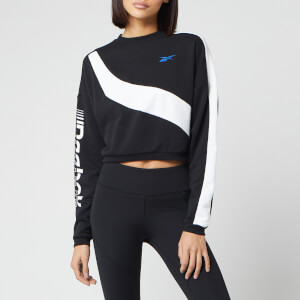 Reebok Women's Myt Colourblocked Cropped Sweatshirt - Black