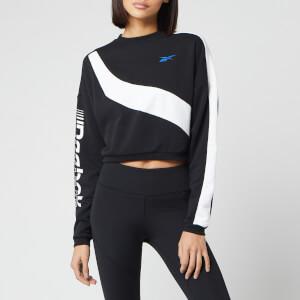 Reebok Women's Myt Colourblocked Cropped Sweatshirt - Black
