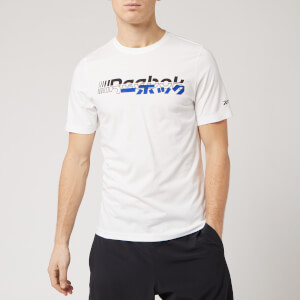 Reebok Men's Myt Logo Short Sleeve T-Shirt - White