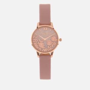Olivia Burton Women's Semi Precious Watch - Pale Pink