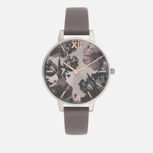 Olivia Burton Women's Twilight Floral Watch - Grey Lilac
