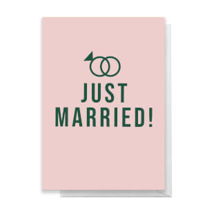 Just Married Greetings Card