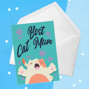 Best Cat Mum Greetings Card