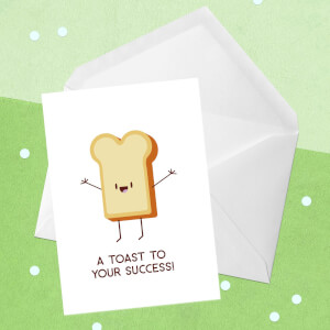 A Toast To Your Success! Greetings Card