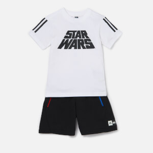 adidas Boys' Star Wars T-Shirt and Shorts Set - White