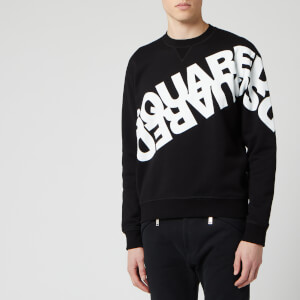 Dsquared2 Men's Angled Mirror Logo Sweatshirt - Black