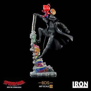 Iron Studios Spider-Man: Into the Spider-Verse BDS Art Scale Deluxe Statue 1/10 Noir & Spider-Ham