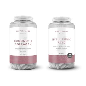 Pack de noix de coco et de collagène et d'acide hyaluronique