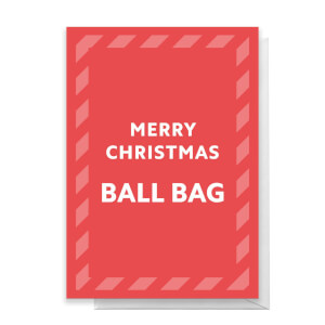 Merry Christmas Ball Bag Greetings Card