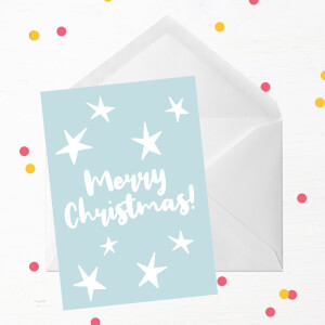 Merry Christmas Stars Greetings Card